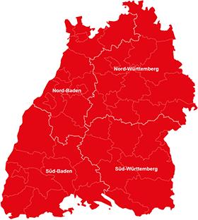 Regierungsbezirke Baden-Württemberg