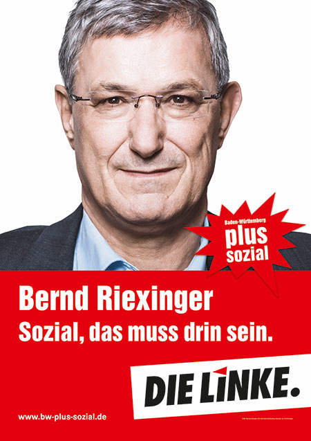 Bernd Riexinger, Plakat