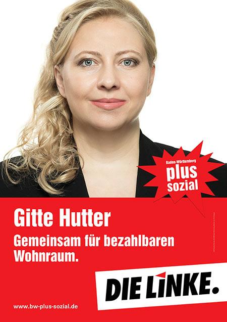 Gitte Hutter, Plakat