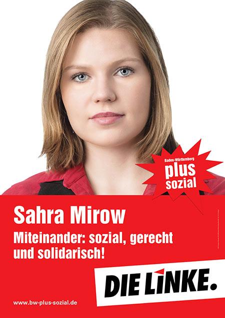 Sahra Mirow, Plakat