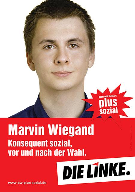 Marvin Wiegand, Plakat